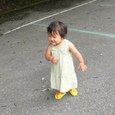 帆夏ちゃん、ロング・ドレスお似合いよ。嬉しそうね!