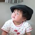 何時もお散歩の時にじいじいが被ってる、お帽子。可愛いね