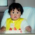 帆夏のバースデーケーキです。 \(^o^)/1歳だから、ローソクも1本!
